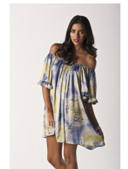 tuscan sun - ruffle puff dress