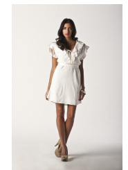 pearl white - lulu dress