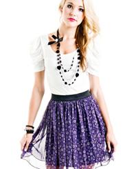 Geometric Skirt - Navy