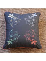 Embroidered Cushion - Rose