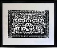 45cm x 37.5cm Forest Dance Framed PaperCut Artwork hand cut