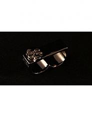 ATAT - Black Skull 2 Finger Ring