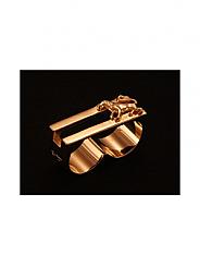 ATAT - Gold Lion 2 Finger Ring