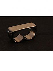 ATAT - Black Plain 2 Finger Ring