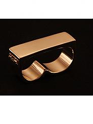 ATAT - Gold Plain 2 Finger Ring