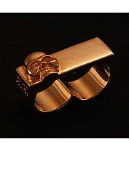 ATAT - Gold Skull 2 Finger Ring
