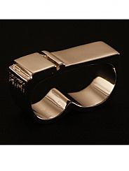 ATAT - Silver 2 Stripe 2 Finger Ring